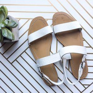 J. Crew White Leather Sandal